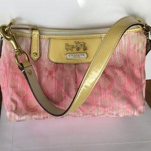 Coach Bags - Coach pink monogram fabric purse